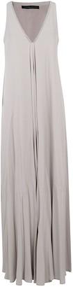 Fabiana Filippi V-neck Sleeveless Long Dress