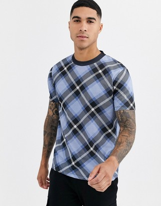 Asos DESIGN t-shirt in all over check print