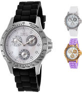 Invicta Women's Speedway Silicone Band with White MOP Dial
