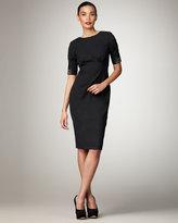 Bead-Sleeve Sheath Dress