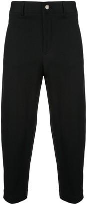 Neil Barrett Cropped Baggy Jeans