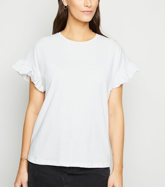 New Look Frill Sleeve T-Shirt