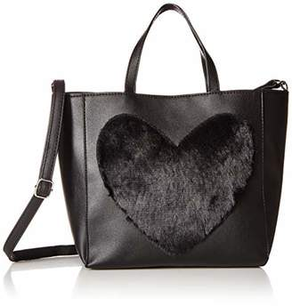 T-Shirt & Jeans Womens Tote with Faux Fur Heart