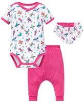 Schiesser Baby Girls' Set Mädchen Bodysuit,9-12 Months pack of 3