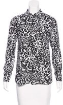 Thakoon Chiffon Leopard Print Blouse w/ Tags