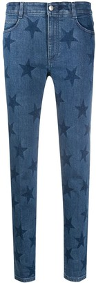 Stella McCartney Star-Print Slim-Fit Jeans