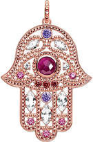 Thomas Sabo Hand of Fatima 18ct rose gold-plated and zirconia pendant