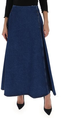MM6 MAISON MARGIELA A-Line Denim Maxi Skirt