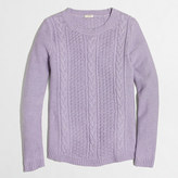 J.Crew Factory Popcorn cable sweater