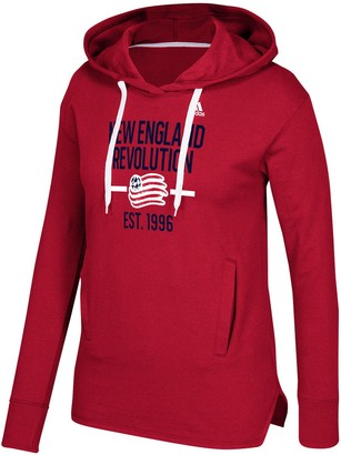 adidas Women's Red New England Revolution Simply Put Pullover Hoodie
