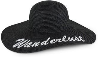 Just Jamie Wanderlust Floppy Straw Hat