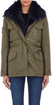 SAM. Women's Fur-Lined Jacket-DARK GREEN