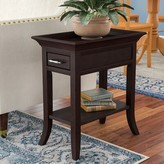 Clermont Tray Edge End Table with Storage Charlton Home