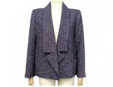 Chanel Purple Tweed Jacket for Women