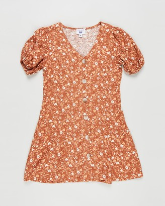 Cotton On Girl's Brown Mini Dresses - Luna Short Sleeve Dress - Teens - Size 10 YRS at The Iconic