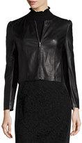 Rebecca Taylor Napa Leather Jacket, Black