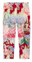 Gucci Little Girl's & Girl's Hydrangea-Print Silk Pants