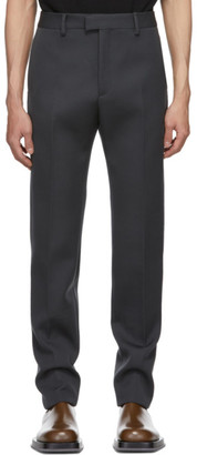 Bottega Veneta Grey Compact Wool Trousers