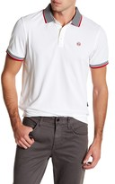 AG Jeans The Peterson Contrast Stripe Short Sleeve Polo