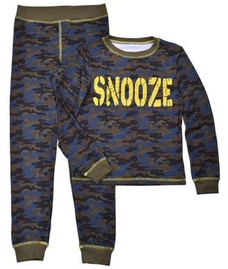 Sleep On It Cloud Nine Boys Camo Printed Tight Fit 2-Piece Pajama Set Sizes 4-14
