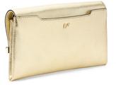 Diane von Furstenberg 440 Envelope Metallic Embossed Lizard Clutch