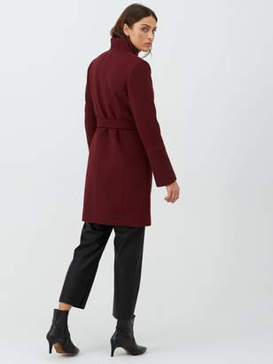 Very Funnel Neck Coat - Plum