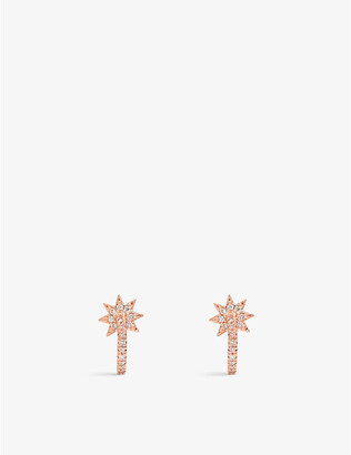 The Alkemistry Colette Galaxia 18ct rose-gold and diamond huggie earrings