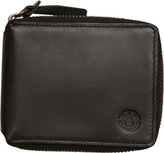 Element Central Zip Leather Wallet Black