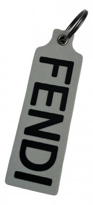 Fendi Grey Cloth Bag charms
