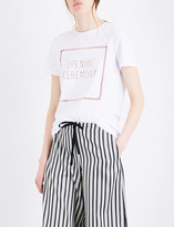 Opening Ceremony Eyelet-embroidered cotton-jersey T-shirt