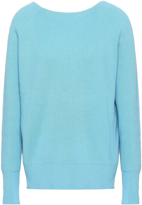 Maje Cutout Ribbed-knit Sweater