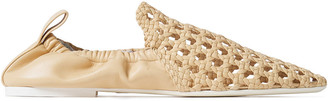 Jil Sander Braided And Smooth-leather Loafers
