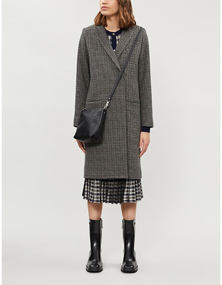 Won Hundred Catelyn checked wool-blend coat