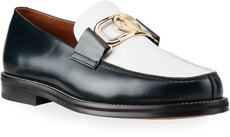 Lanvin Men's Swan Mother and Child Bit-Strap Loafers