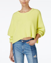 Free People Festival Pier Cotton Cropped Rib-Knit Sweater