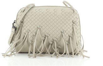Bottega Veneta Nodini Crossbody Bag Fringe Intrecciato Nappa Small