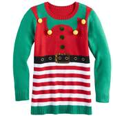 It's Our Time Its Our Time Girls 7-16 & Plus Size Embellished Ugly Christmas Tunic Sweater