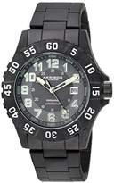 Akribos XXIV Men's AK794WT Quartz Movement Watch with Gray Dial and Black Stainless Steel Bracelet