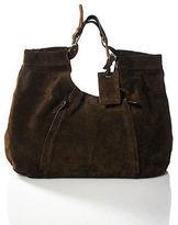 Ralph Lauren Brown Suede Tote Shoulder Handbag Size Extra Large