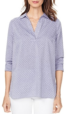 NYDJ Dotted Popover Tunic Top
