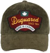 DSQUARED2 Logo Patch Corduroy Baseball Hat