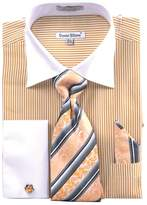 Sunrise Outlet Men's Stripe Two Tone French Cuff Shirt Cufflinks