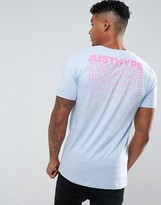 Hype T-shirt In Blue With Text Back Print