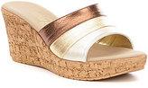 Onex Balero Metallic Wedge Sandals