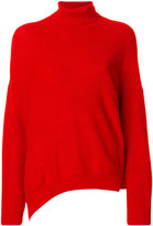 Vanessa Bruno asymmetric roll-neck jumper - women - Cotton/Wool - M