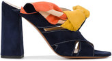 Chloé Navy Suede Nellie Bow Mules - women - Leather/Suede - 35
