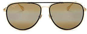 Maui Jim Unisex Fair Winds Polarized Aviator Sunglasses, 58MM