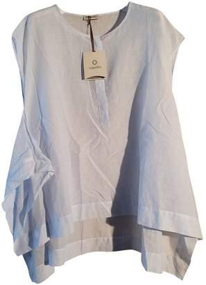 Cappellini Blue Cotton Top for Women