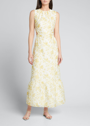 SIR the Label Clementine Floral Cutout Gown
