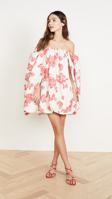 Hellessy Minnelli Lace Printed Faille Dress